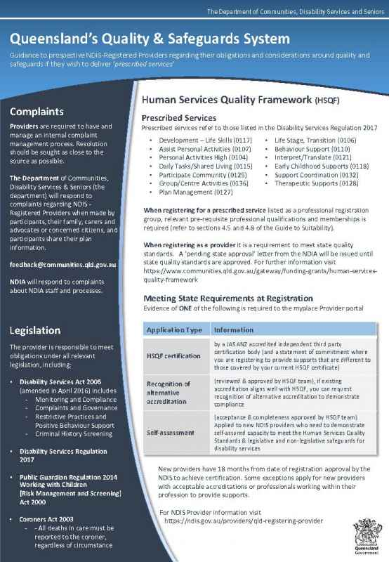 Queensland's Quality & Safeguards System Factsheet